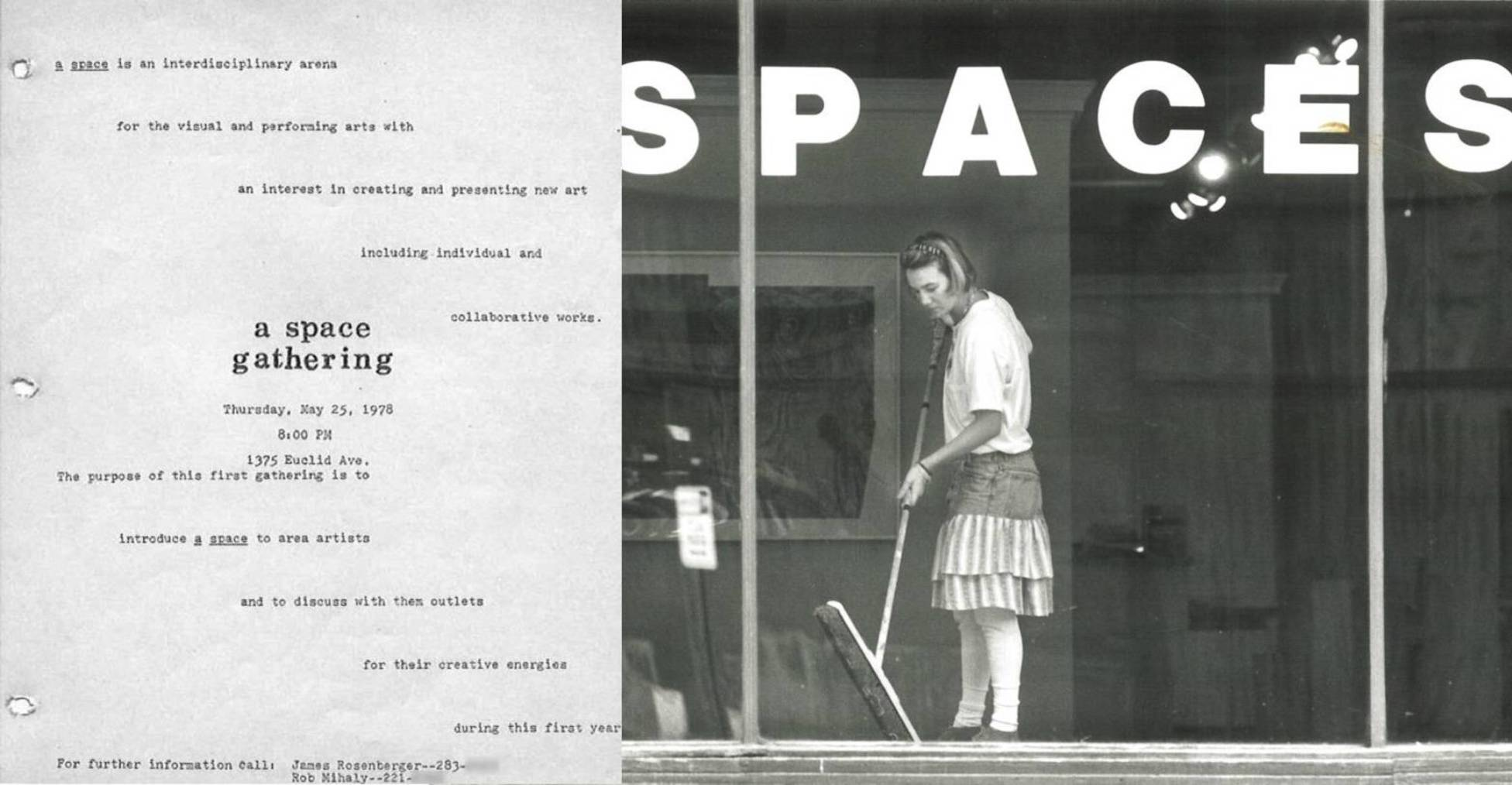Spaces cleveland old documents and storefront